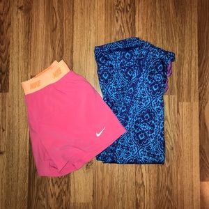 Other - Bundle of 2 girls activewear shorts and capris